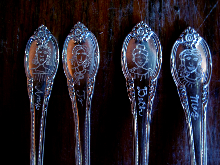 Little Women Cake Forks