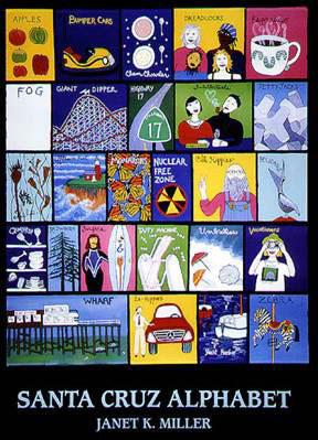 Santa Cruz Alphabet Poster
