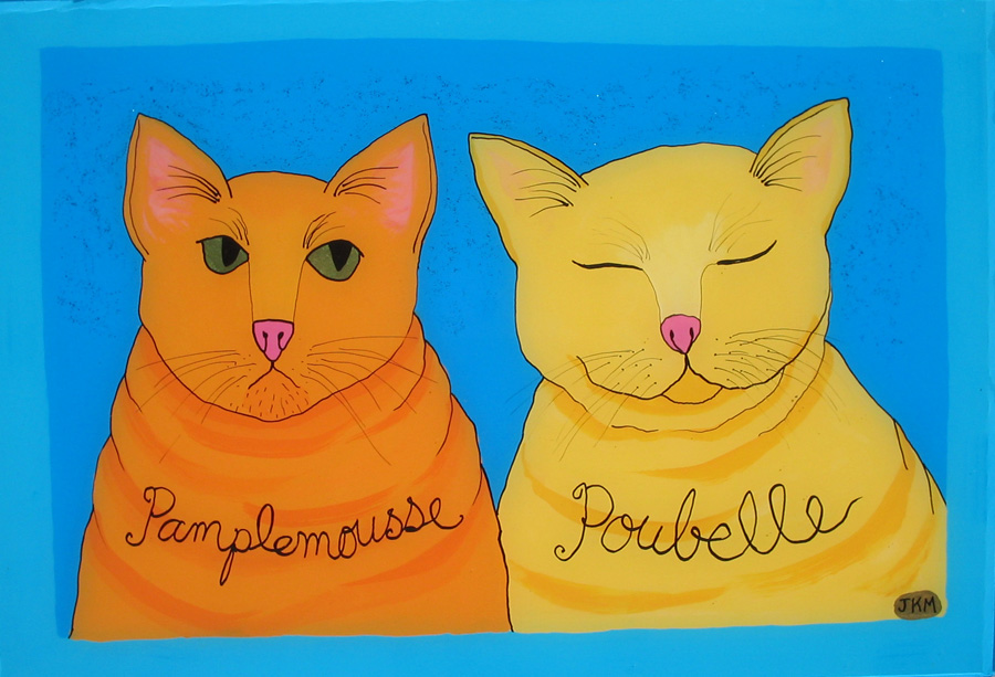 Cats: Poubelle and Pamplemousse